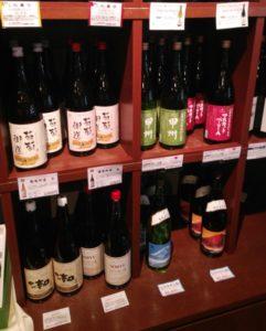 一升瓶のワイン
